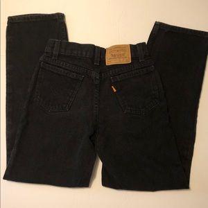 Vintage Levi's 550 Orange Tab Black Boys Jeans